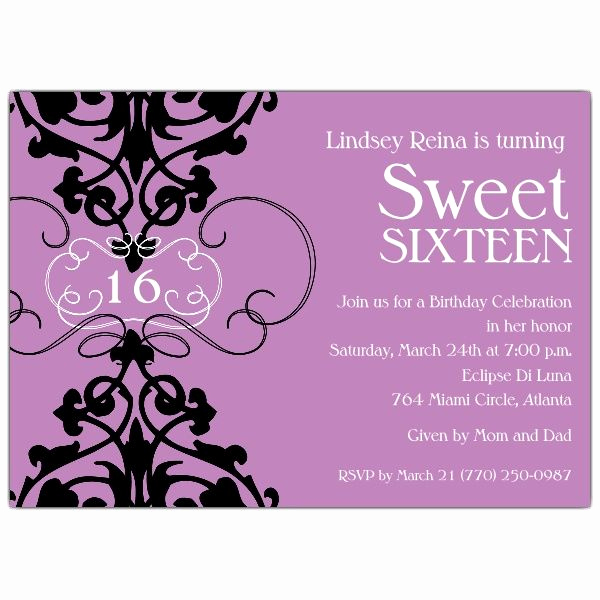 Sweet 16th Invitation Wording Best Of 39 Best Sweet 16 Invitations Images On Pinterest
