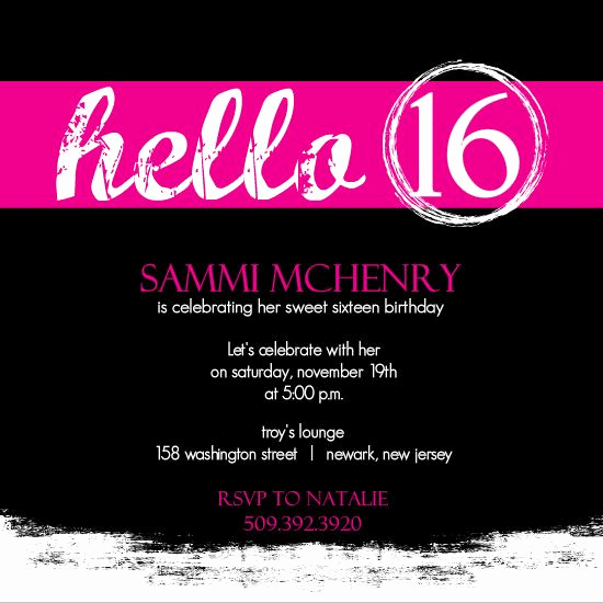 Sweet 16th Invitation Wording Fresh Sweet 16 Invitation Cards Designs Google Search