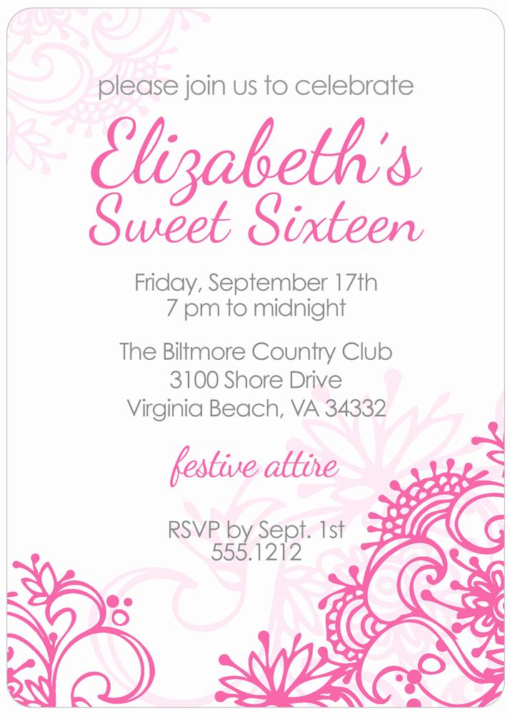 Sweet 16th Invitation Wording Luxury Sweet 16 Invitation Quotes Quotesgram