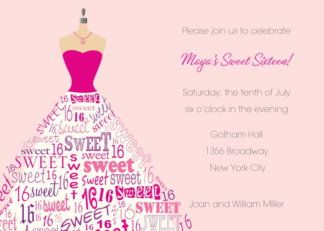 Sweet 16th Invitation Wording Luxury Sweet 16th Birthday Invitations Templates Free