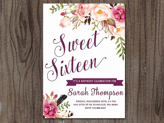 Sweet Sixteen Invitation Ideas Luxury 17 Best Ideas About Sweet 16 Invitations On Pinterest