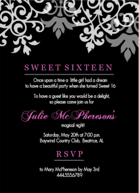 Sweet Sixteen Invitation Ideas Luxury Teen Birthday Party Invitation Wording Ideas From Purpletrail