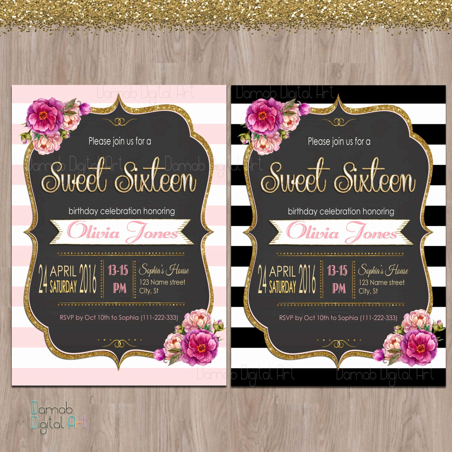 Sweet Sixteen Invitation Template Awesome Sweet 16 Invitation Sweet Sixteen Invitations Sweet 16