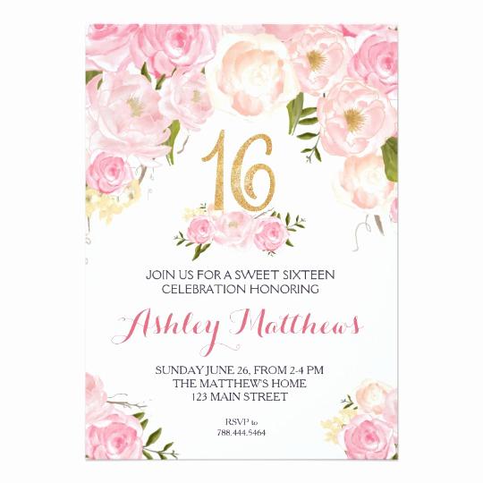 Sweet Sixteen Invitation Template Beautiful Free Sweet 16 Birthday Invitations – Free Printable