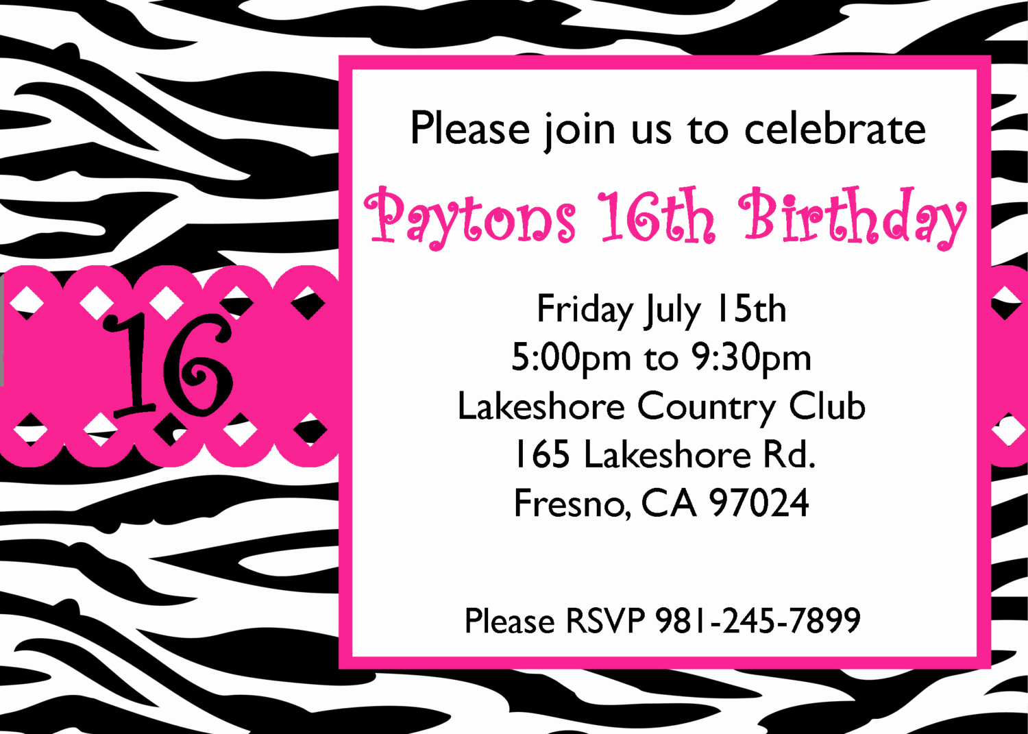 Sweet Sixteen Invitation Template Elegant Free Sweet 16 Birthday Invitations Templates