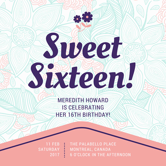 Sweet Sixteen Invitation Template Luxury Customize 545 Sweet 16 Invitation Templates Online Canva