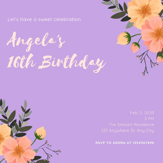 Sweet Sixteen Invitation Templates Awesome Customize 109 Sweet 16 Invitation Templates Online Canva
