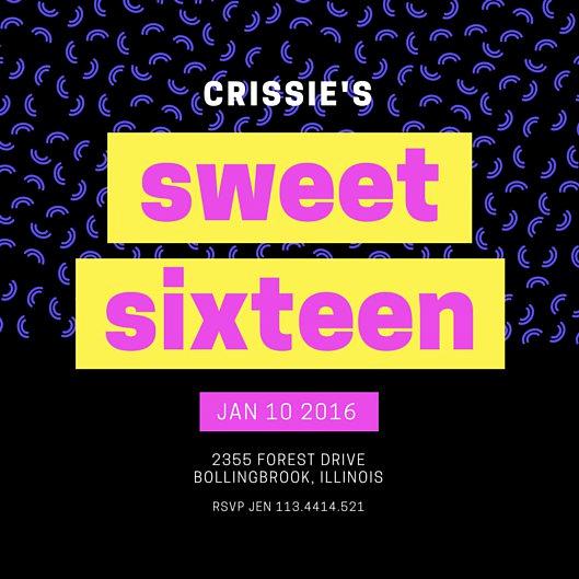 Sweet Sixteen Invitation Templates Lovely Customize 545 Sweet 16 Invitation Templates Online Canva