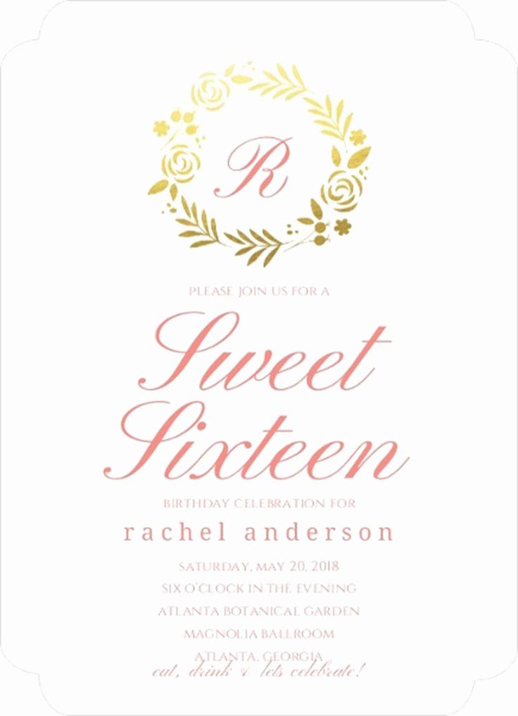 Sweet Sixteen Invitation Templates Unique 151 Best Birthday Invitations Images On Pinterest