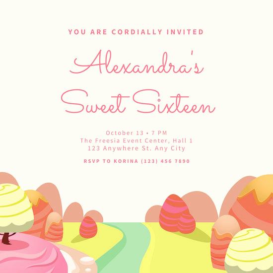 Sweet Sixteen Invitation Templates Unique Customize 107 Sweet 16 Invitation Templates Online Canva