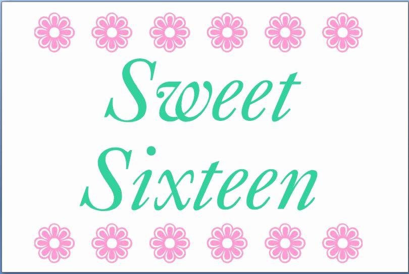 Sweet Sixteen Invitation Templates Unique Free Printable Sweet 16 Invitation Templates