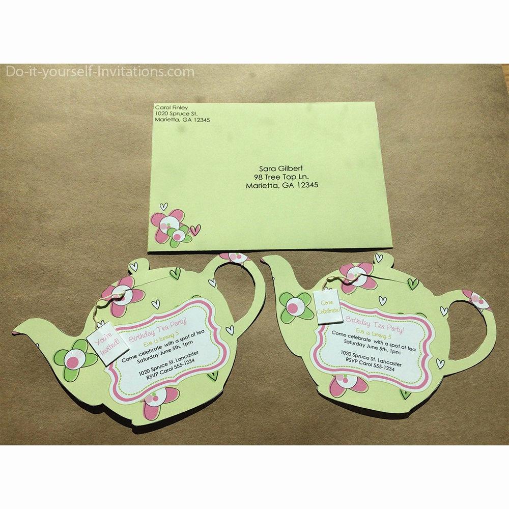 Tea Bag Invitation Template Best Of Printable Tea Party Invitation Bridal Tea Party Invitation