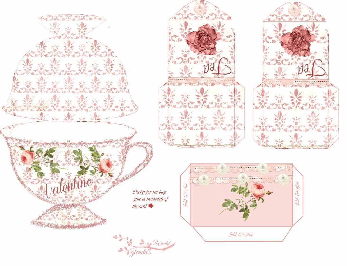Tea Bag Invitation Template Elegant Free Printable Tea Cup Card and Teabag Covers Valentine