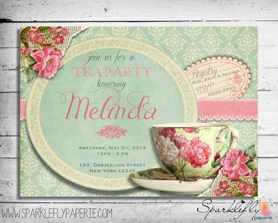 Tea Bag Invitation Template Elegant Free Vintage Tea Party Invitation
