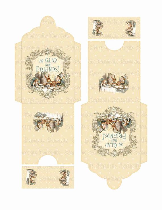 Tea Bag Invitation Template Lovely Printable Tea Bag Envelope Printable Alice In Wonderland