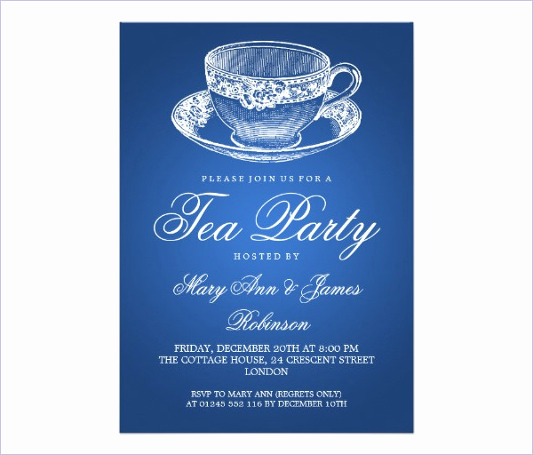 Tea Cup Invitation Template Awesome 41 Tea Party Invitation Templates Psd Ai