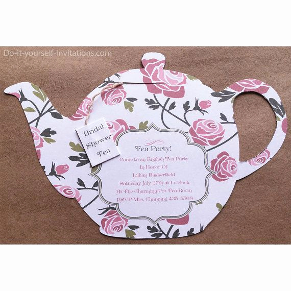 Tea Cup Invitation Template Awesome Printable Tea Party Invitation Bridal Tea Party
