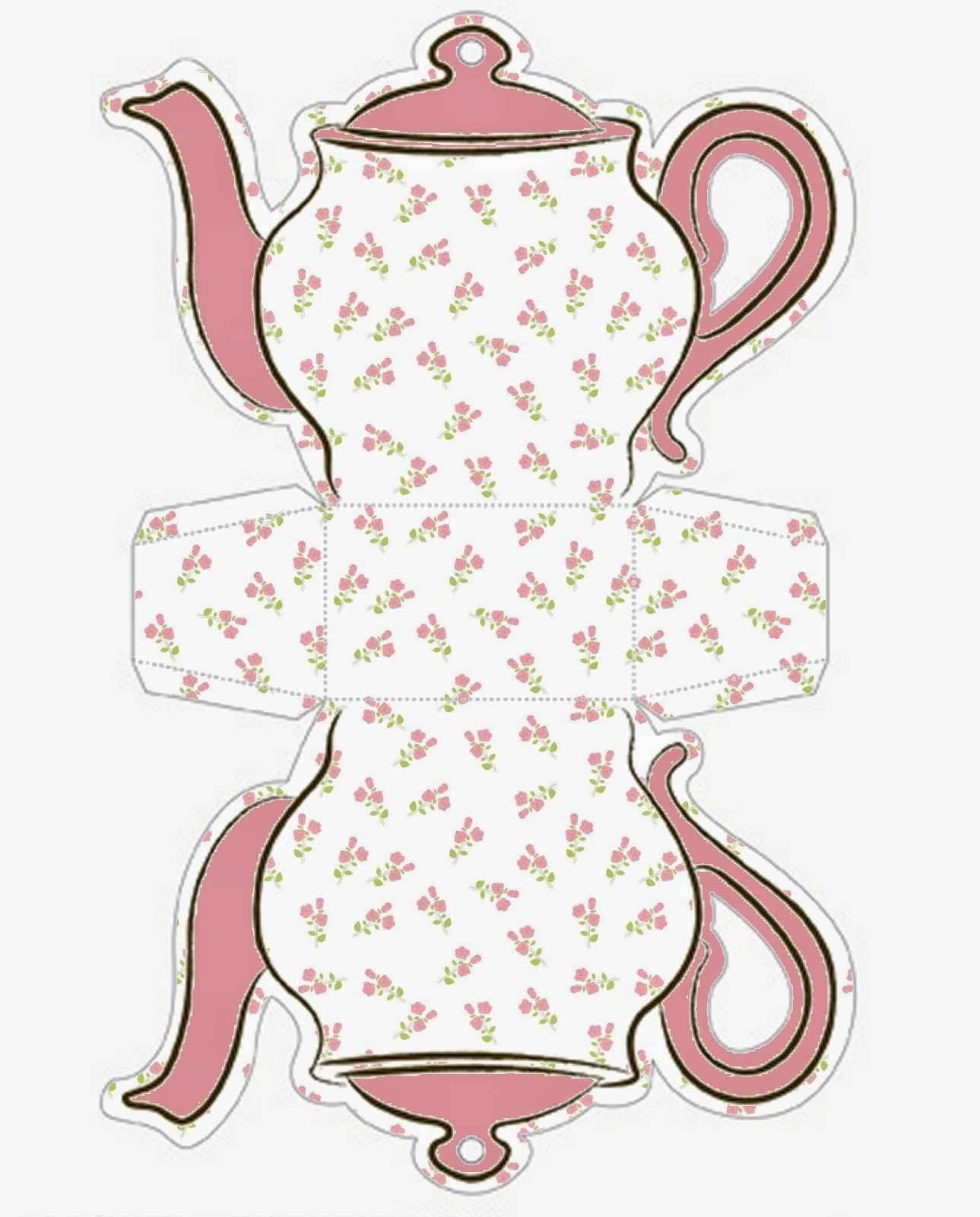 Tea Cup Invitation Template Awesome Shabby Chic Cajas Con forma De Tetera Para Imprimir