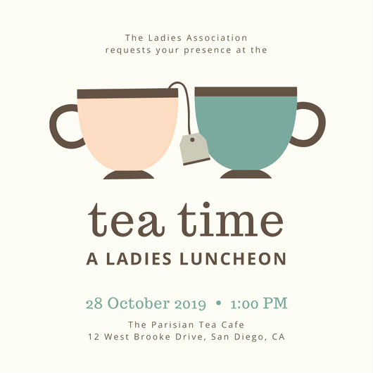 Tea Cup Invitation Template Best Of Tea Party Invitation Templates Canva