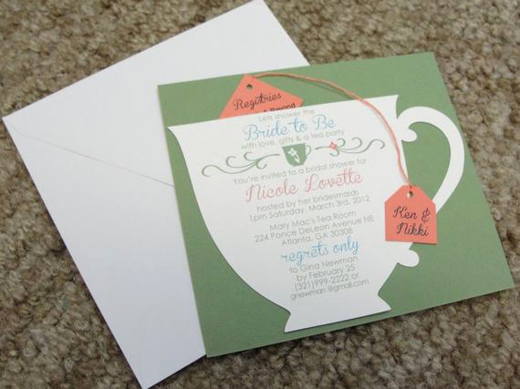 Tea Cup Invitation Template Elegant Bridal Shower Tea Party Cup Invitation