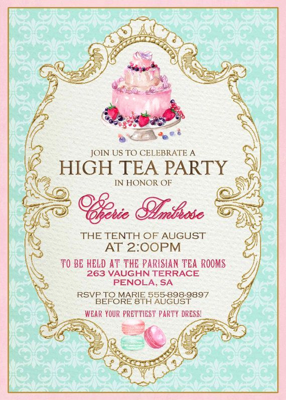 Tea Cup Invitation Template Fresh 25 Best Ideas About High Tea Invitations On Pinterest