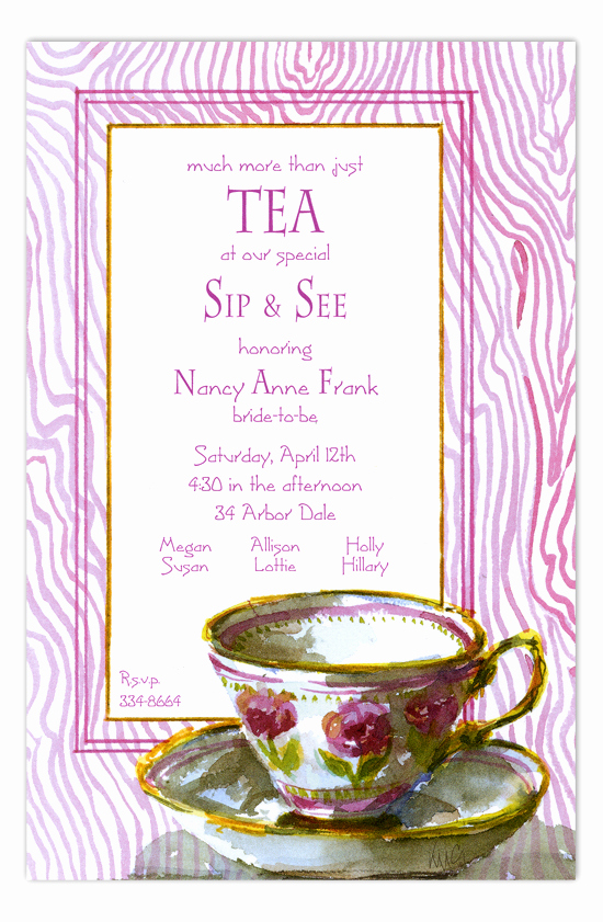 Tea Cup Invitation Template Fresh Odd Balls Invitations