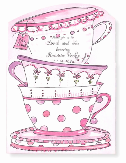 Tea Cup Invitation Template New Tea Cup Invitation Tea
