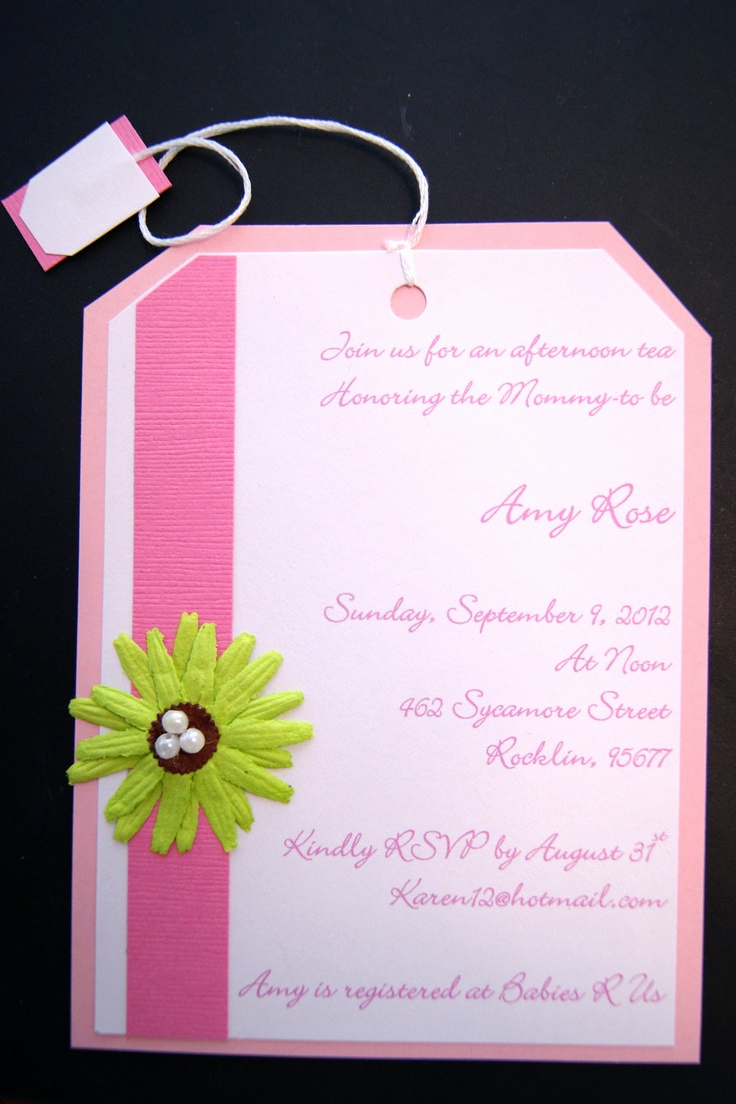 Tea Party Invitation Ideas Awesome 120 Best Images About Gender Neutral Baby Shower On