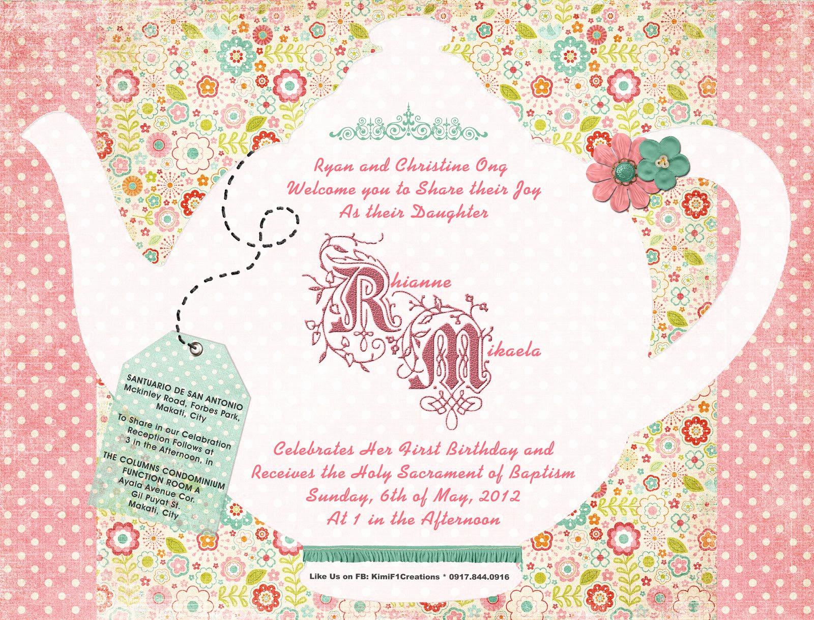 Tea Party Invitation Ideas Elegant Girls Tea Party Invitation Wording