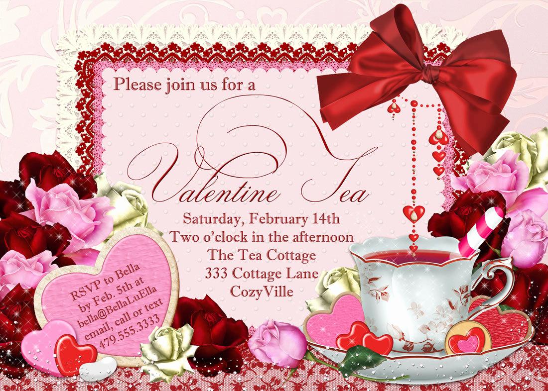 Tea Party Invitation Ideas Fresh Valentine Tea Party Invitation Valentines Day Party Tea