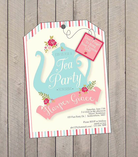 Tea Party Invitation Ideas Lovely Best 25 Tea Party Invitations Ideas On Pinterest