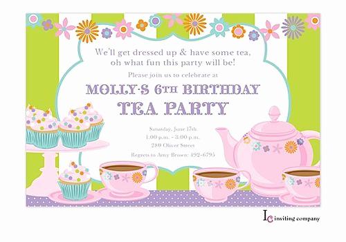 Tea Party Invitation Ideas Luxury 43 Best Children S Party Images On Pinterest