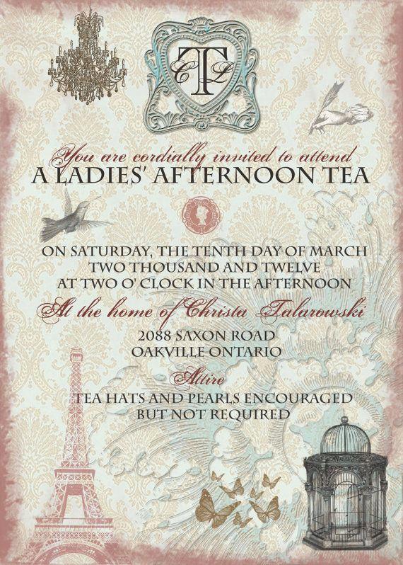 Tea Party Invitation Ideas Luxury Best 25 High Tea Invitations Ideas On Pinterest