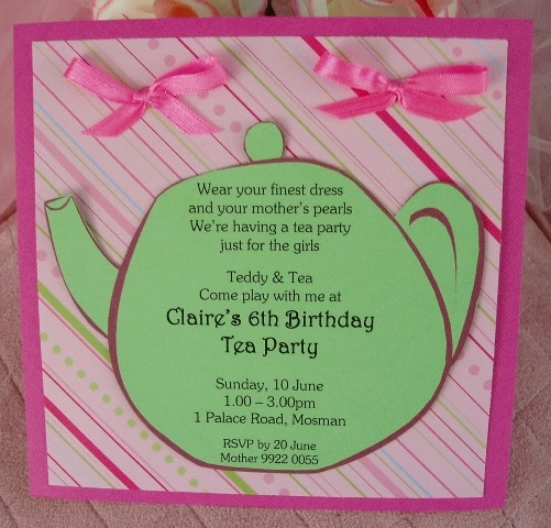 Tea Party Invitation Ideas Luxury Tea Party Birthday Invitations