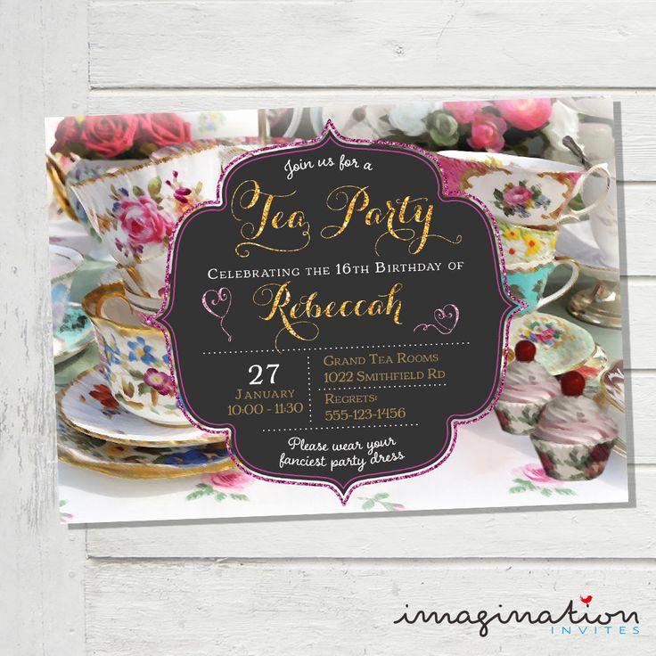 Tea Party Invitation Ideas New 25 Best Ideas About High Tea Invitations On Pinterest