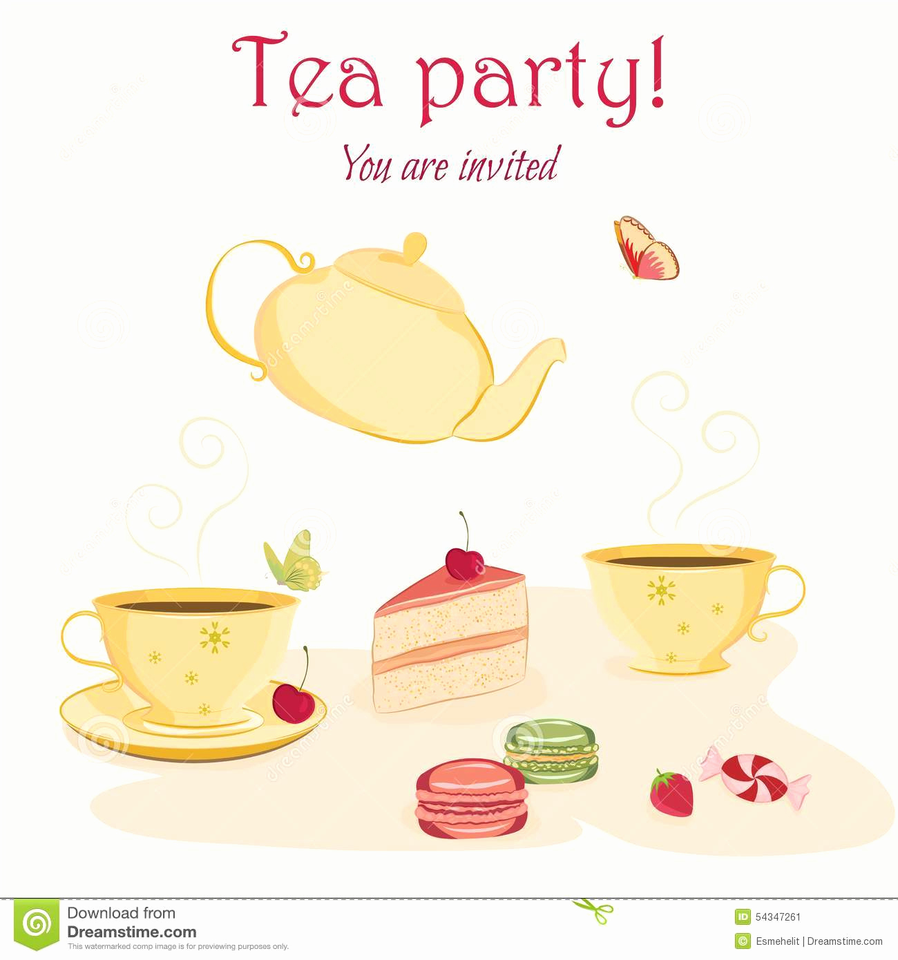 Tea Party Invitation Template Free Awesome Elegant Tea Party Invitations