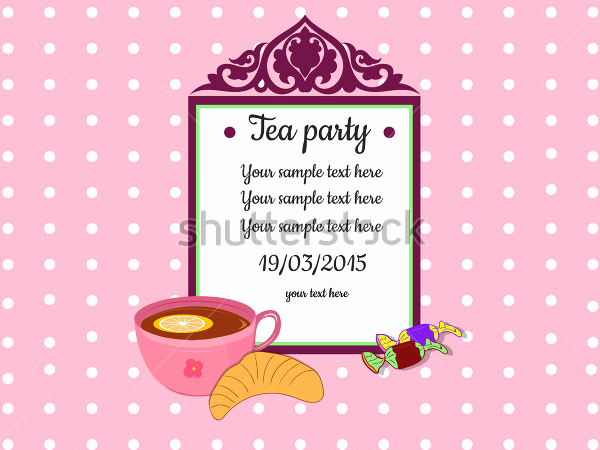 Tea Party Invitation Template Free Beautiful 41 Tea Party Invitation Templates Psd Ai