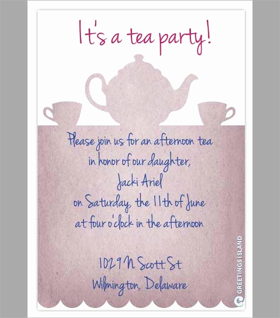Tea Party Invitation Template Free Best Of Party Invitation Template Download In Psd Pdf