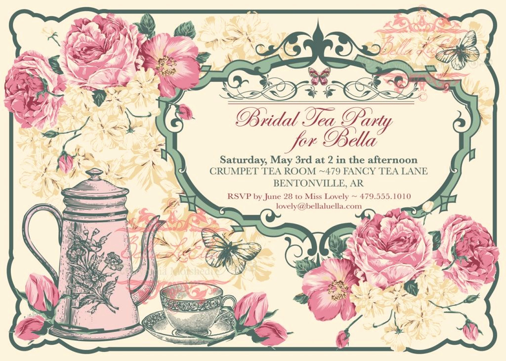 Tea Party Invitation Template Free Fresh Free Vintage Tea Party Invitation Template
