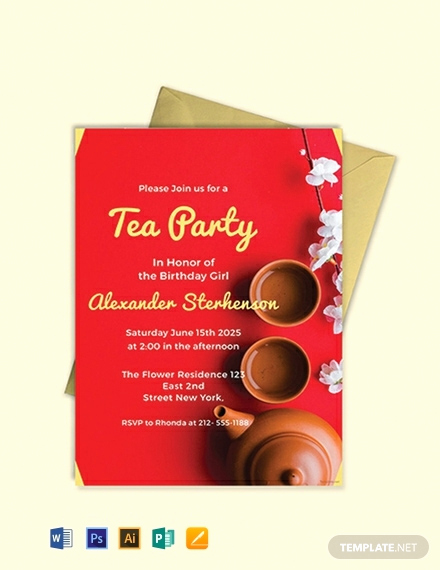 Tea Party Invitation Template Free Luxury 123 Free Party Invitation Templates [download Ready Made