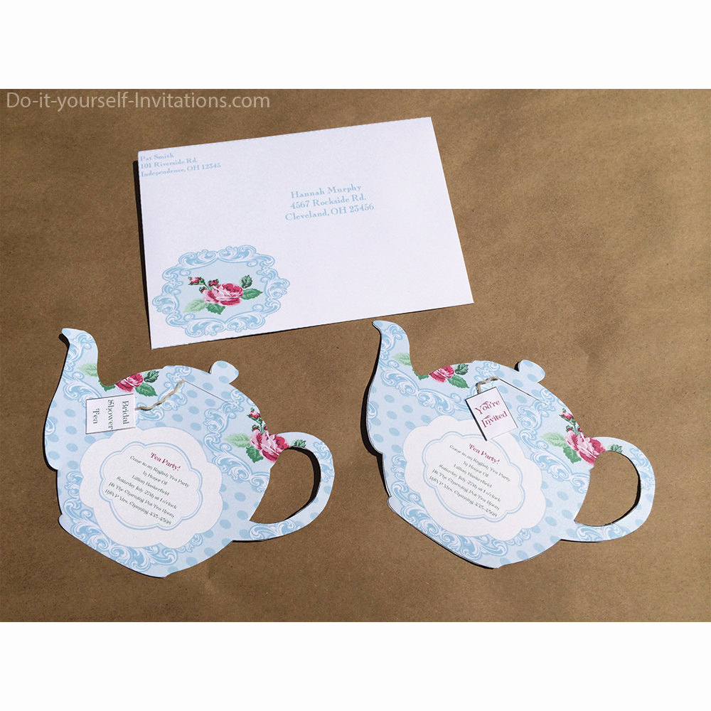 Tea Party Invitation Template Free New Printable Tea Party Invitation Bridal Tea Party Invitation