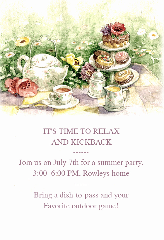Tea Party Invitation Template Free New Tea Party Dinner Party Invitation Template Free