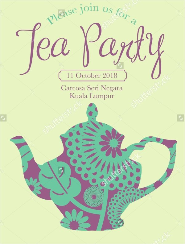 Tea Party Invitation Templates Awesome 22 Sample Tea Party Invitations Word Psd Ai