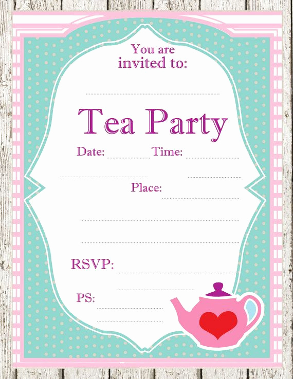 Tea Party Invitation Templates Best Of Tea Party Printable Invitations Parties