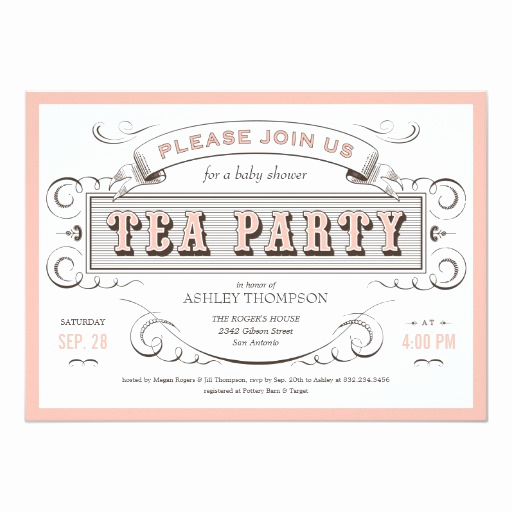 Tea Party Invitation Templates Best Of Vintage Tea Party Invitations