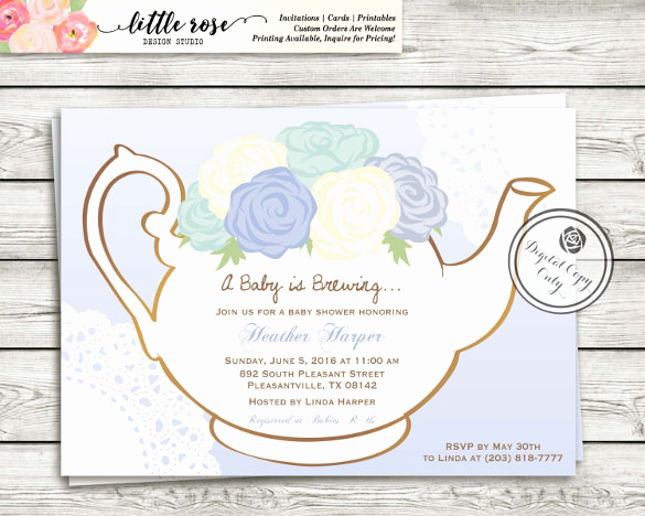 Tea Party Invitation Templates Elegant 41 Tea Party Invitation Templates Psd Ai