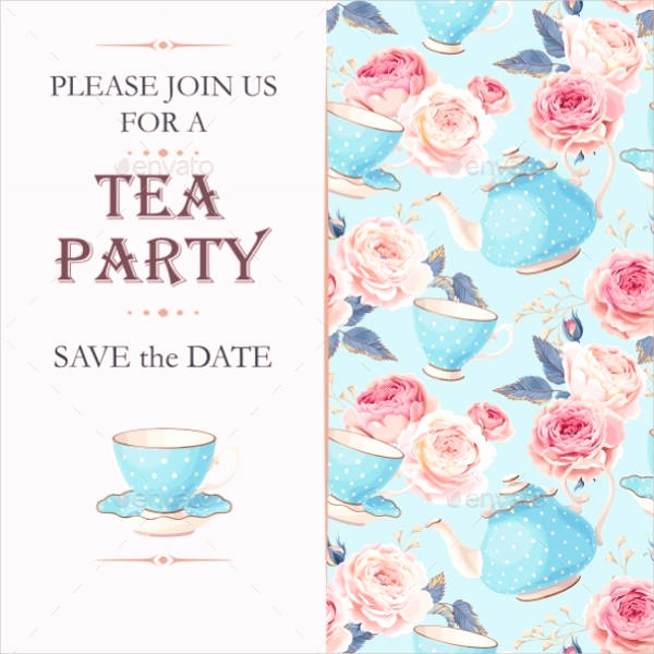 Tea Party Invitation Templates Elegant 9 Tea Party Invitation Templates Free Download