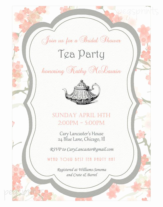 Tea Party Invitation Templates Elegant Best 25 High Tea Invitations Ideas On Pinterest
