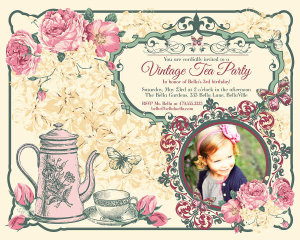Tea Party Invitation Templates Fresh 9 Vintage Invitation Templates Psd Eps Ai