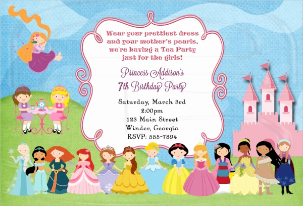 Tea Party Invitation Templates New 22 Sample Tea Party Invitations Word Psd Ai